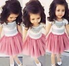 2015 New Hot Sale Kids Baby Girls Dress Tutu Skirt Mini Summer Clothes Fit 1-6Y