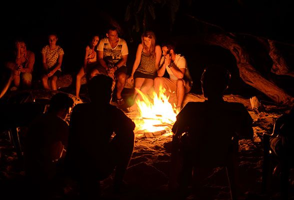 Make a campfire and sing some songs :)