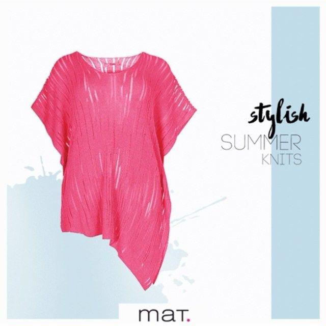 Αγαπάμε τα καλοκαιρινά ανάλαφρα #matfashion πλεκτά σε υπέροχα έντονα χρώματα! Είναι μία hot τάση για φέτος που πρέπει να υιοθετήσεις και εσύ! Ανακάλυψε τα στα καταστήματα αλλά και online • #knitsforall #realsize #knitwear #ootd #springsummer2017