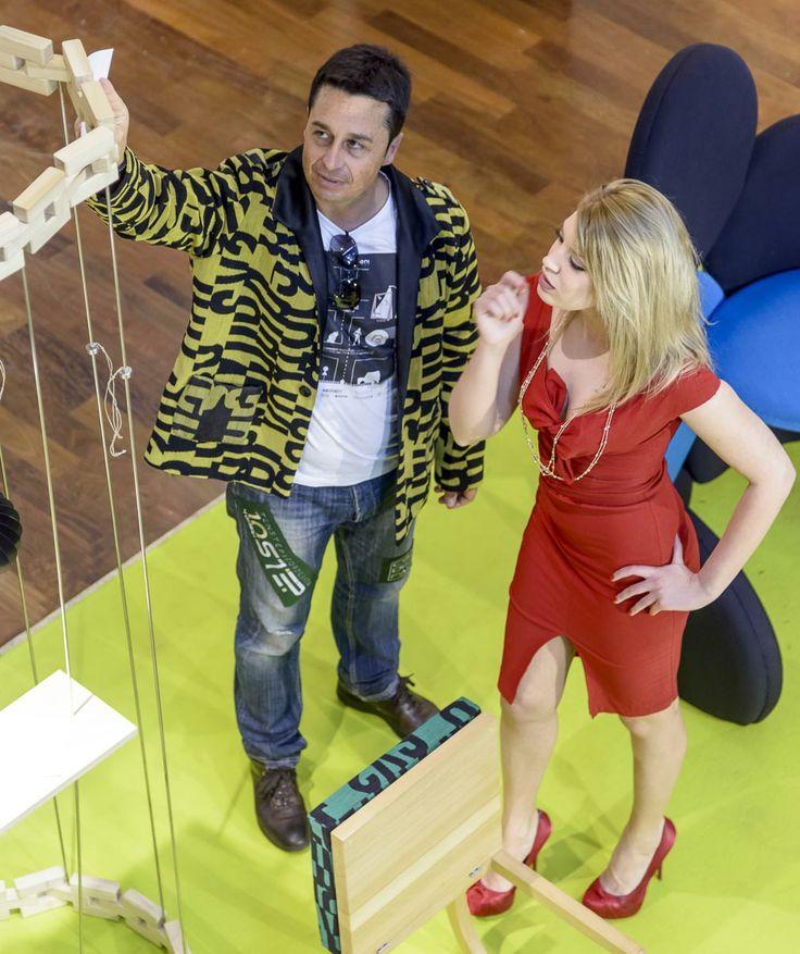 "SoFlower Chair                + FlexBook                         + #scaranidesigner             + Fashion D.Attilio Carota   + Letters by Kvadrat           = Project ""DesignOnSkin"" Tessuti di arredo usati sulla Pelle #ariannaespengrimoldi model"
