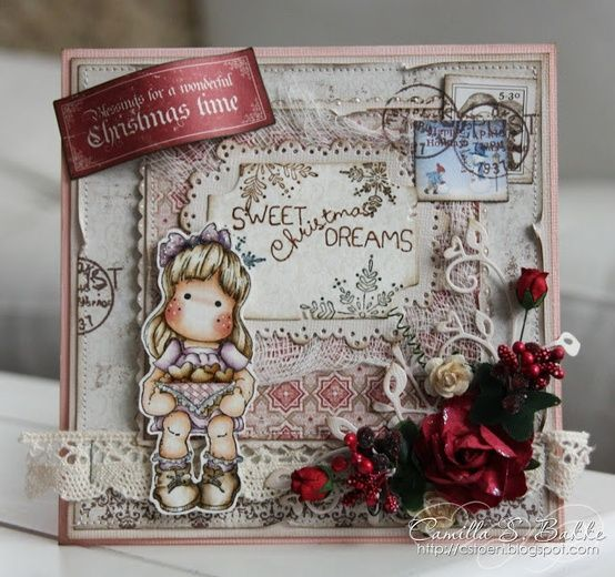 Magnolia card - Scrapbook.com