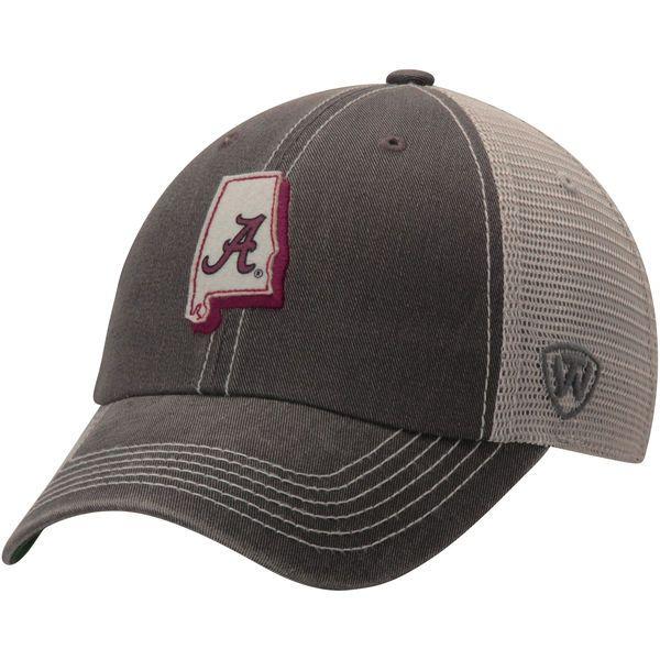 Alabama Crimson Tide Top of the World United Trucker Adjustable Snapback Hat - Charcoal - $22.99