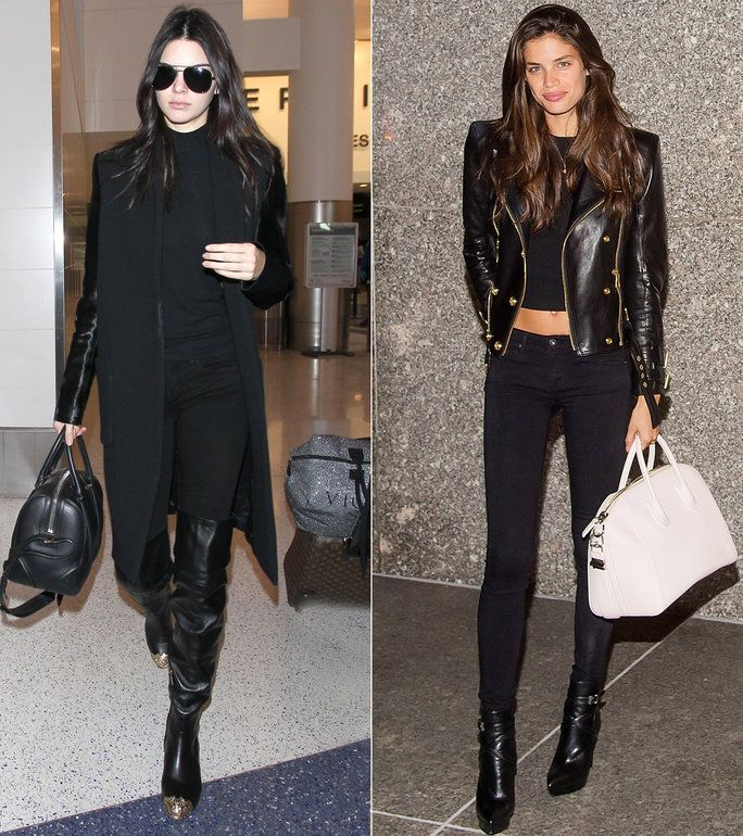 These models demo how to wear black jeans in the most stylish way.