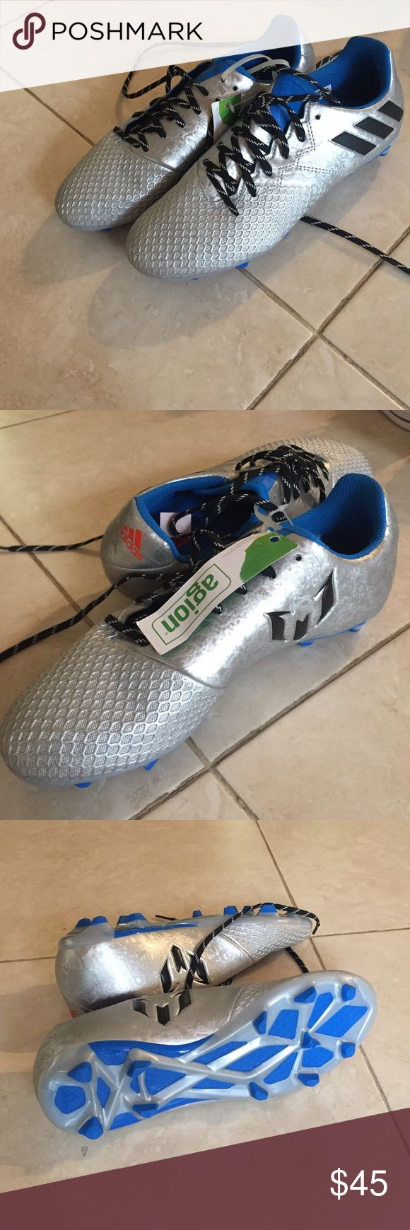New adidas soccer cleats. Brand new adidas soccer cleats. Messi soccer cleats for kids. Still with tag, no box Adidas Shoes Athletic Shoes