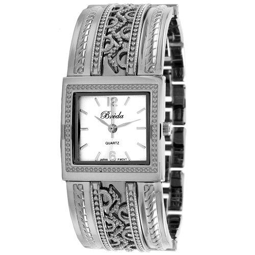 "Breda Women's 2193_silv ""Scarlett"" Ornate Vintage Bangle Watch"