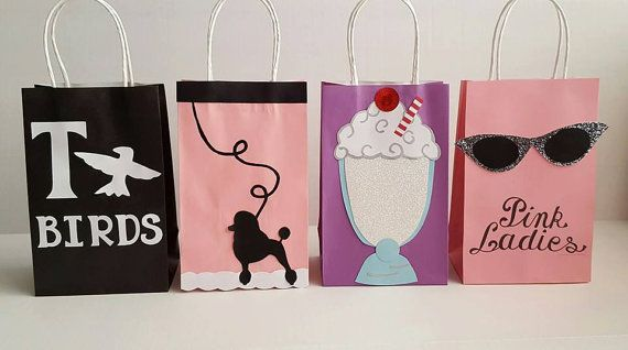 Grease/50's Party Favor Bags! Mention you found my listing on Pinterest, for a coupon code (good for orders over $30)!