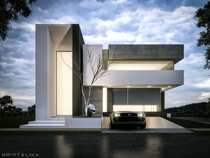 25 best ideas about modern house facades on pinterest for Villa architecture design plans