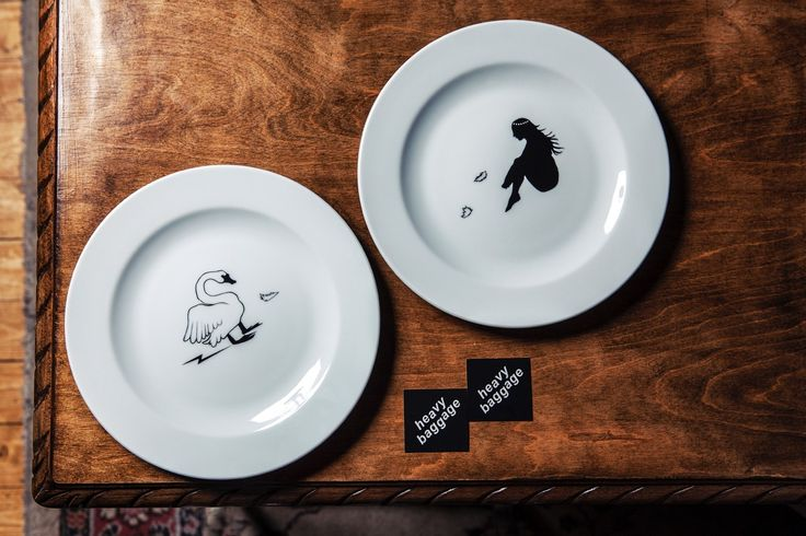 Zeus + Leda Dinner plates for two / Heavy Baggage Design