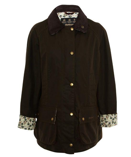 Olive Beadnell Ros Liberty Print Wax Jacket