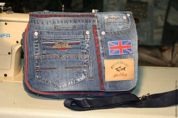 Купить Сумка-планшетка из джинсов своими руками - джинсовая ткань, джинсовый стиль, джинсовая сумка