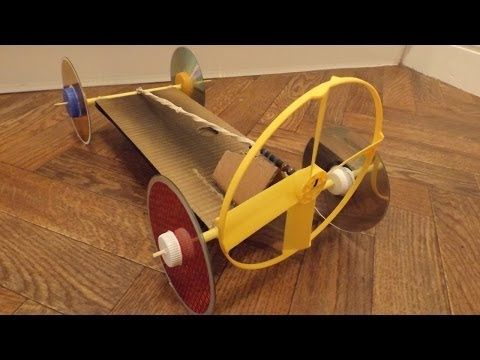 Rubber Band Powered Fan Driven Car Youtube Makerspace