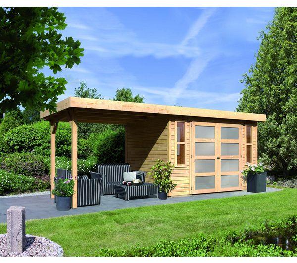 abri de jardin bois carrefour karibu abri mhlendorf 4 avec appentis
