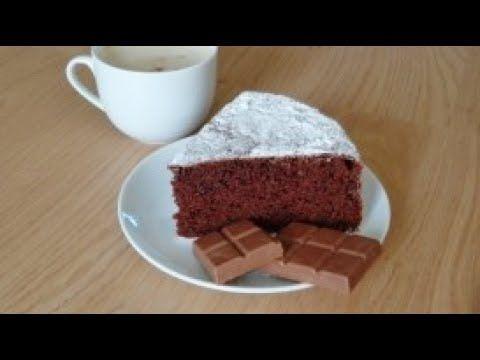 Шифоновый шоколадный бисквит на сливках.Рецепт Chocolate biscuit on cream.recipe - YouTube