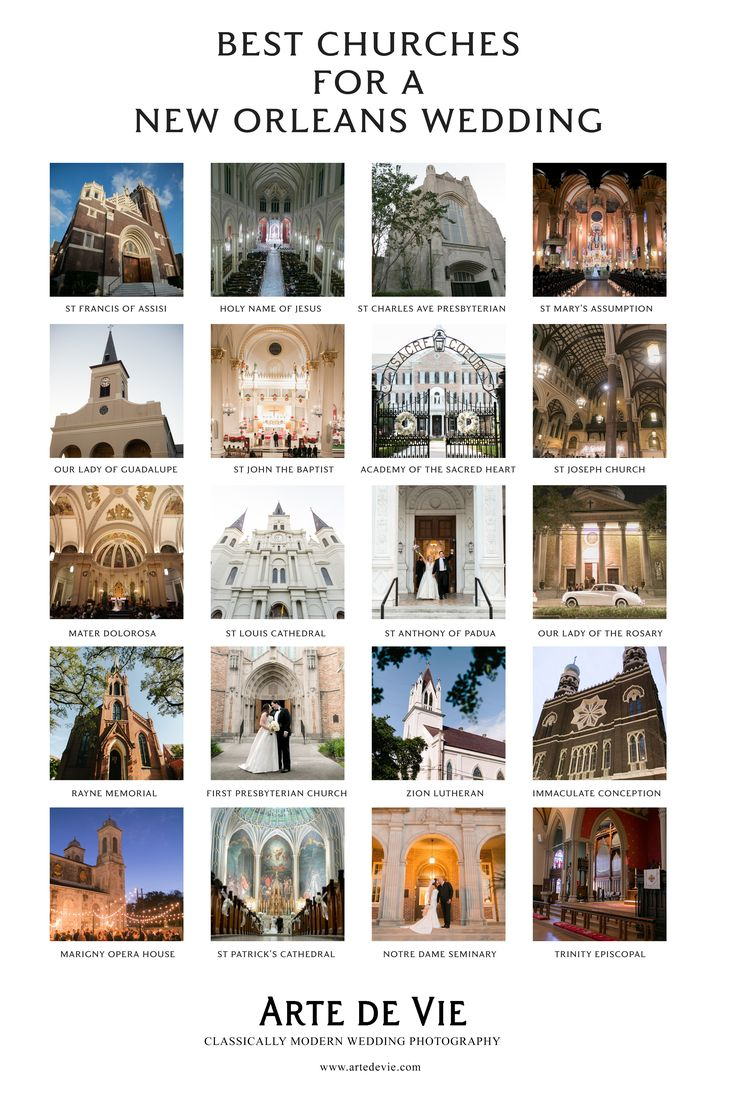 Best New Orleans Churches for a Beautiful New Orleans Wedding Ceremony!  MUST SEE GUIDE! Arte De Vie Photography - New Orleans, Paris and World Wide www.artedevie.com