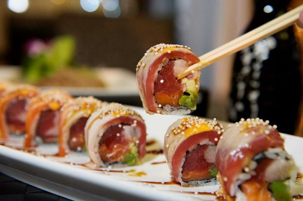 The Out of Control Roll is a fan favorite at Kaji Sushi & Lounge in Garden City. With yellowtail, tuna, salmon and a dozen other ingredients, they are truly out of control. Click the picture for the full review.