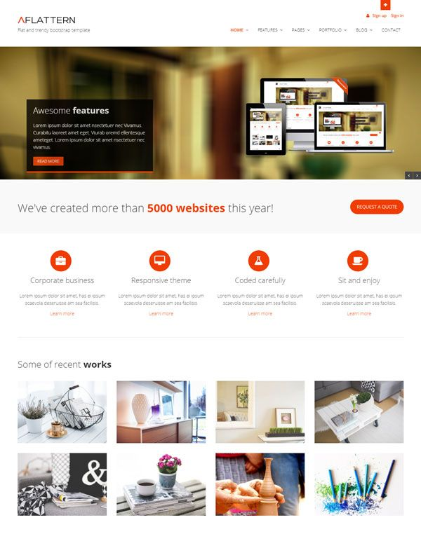 Flattern Free Bootstrap Template For Corporate Business Agency Or Portfolio Websites In 2020 Corporate Business Portfolio Website Bootstrap Template