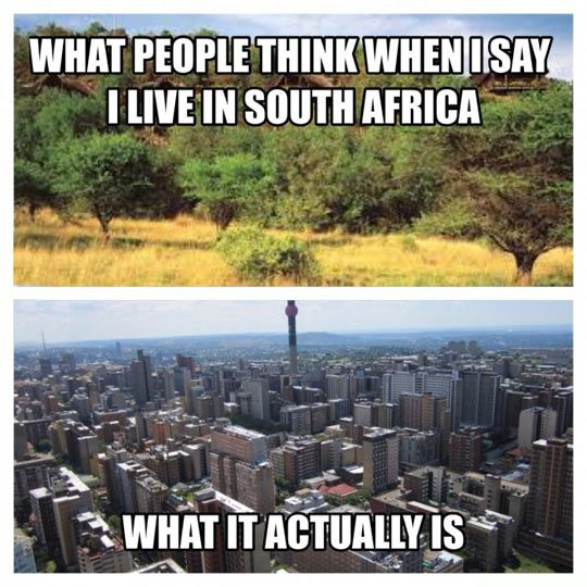 South Africa Misconception // tags: funny pictures - funny photos - funny images - funny pics - funny quotes - #lol #humor #funnypictures