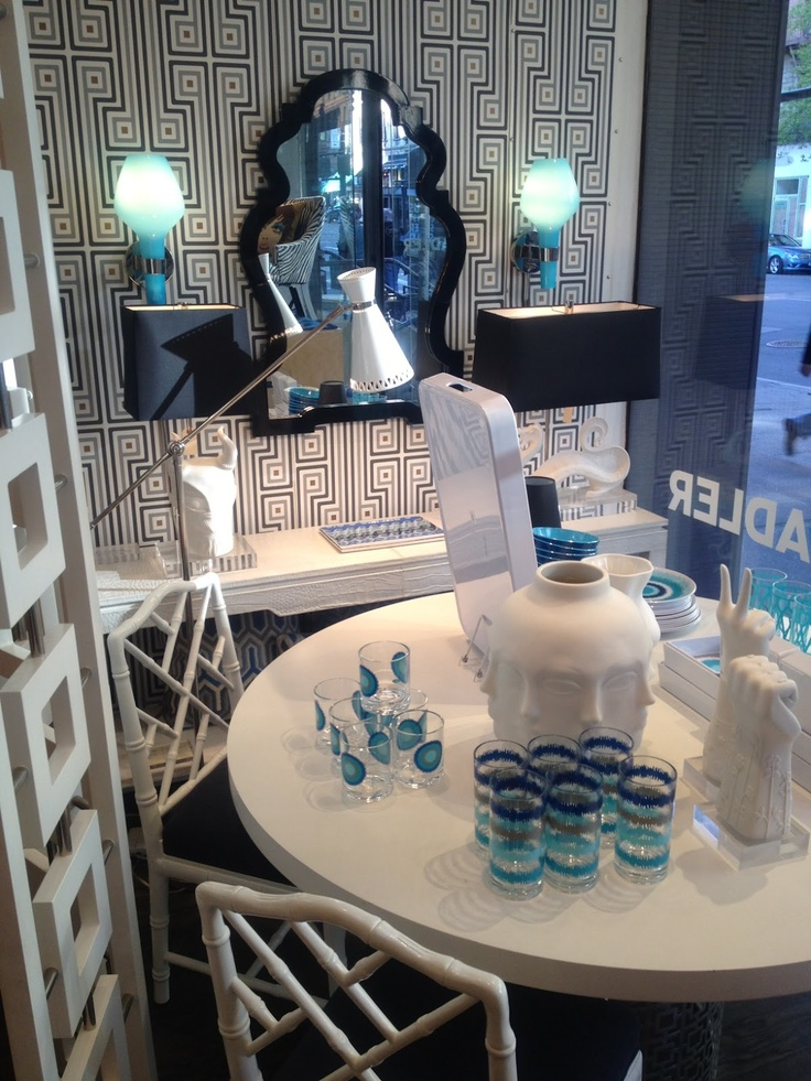 navy jonathan adler  LUCY WILLIAMS INTERIOR DESIGNPlaces Ideas, Interior Design, Dining Room, Design Ideas, Products Inspiration, 513 Dining, Interiors Design Chairs, Inspiration Design
