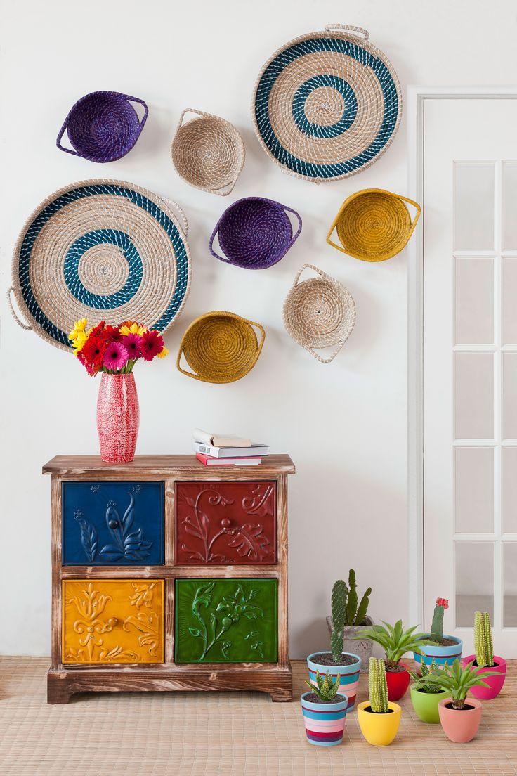 Una manera diferente y colorida de decorar las paredes de tu hogar #VivaMexicoEasy #colors #design #deco #home