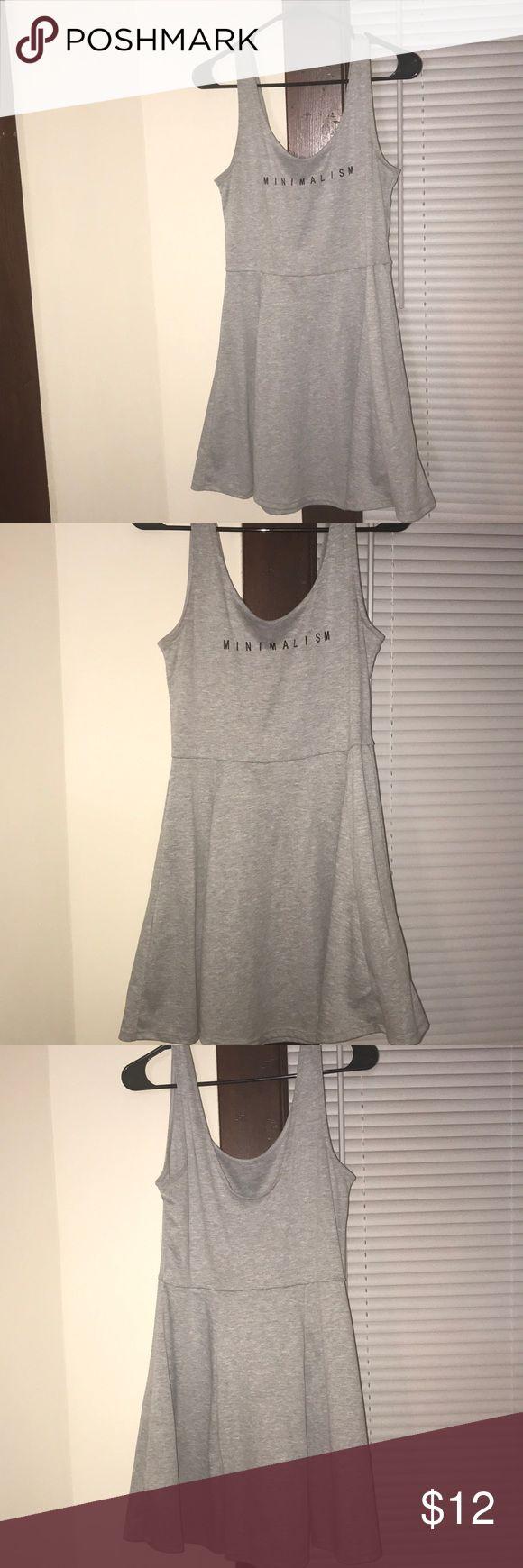 "Grey Dress Grey short dress , cute for summer says ""minimalism"". Dresses Mini"