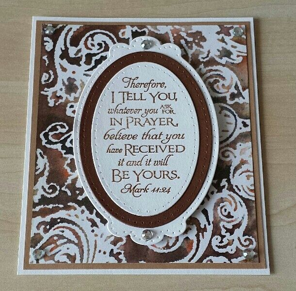 Stamping,Spellbinders,Our Daily Bread Designs, Brusho