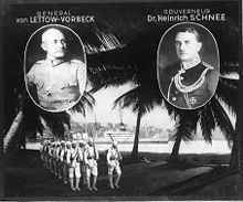 Paul von Lettow-Vorbeck  and colonial Governor Heinrich Schnee