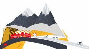 July 2015 Free Prezi Template of the Month - A free prezi template designed by Egg 3 of the Tour de France. The Prezi path follows the bike riders through towns, mountains, and across the finish line.