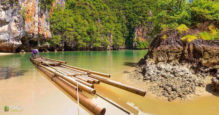 Bamboo raft in the Phang Nga National Park, Thailand