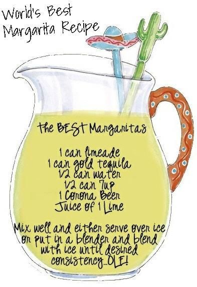 World's Best #Margarita Recipe -- this is good - I used orange juice in place of the 7-up.