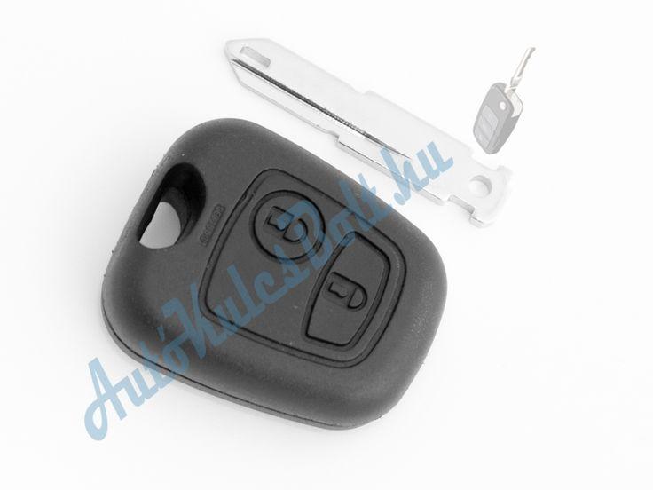 Citroen két (2) gombos kulcsház 206-os szárral. Elem, elektronika és immobiliser chip nélkül. Logót, márkajelzést nem tartalmaz.  http://autokulcsbolt.hu/citroen-kulcshazak/citroen-ketgombos-kulcshaz-206-os-kulcsszarral