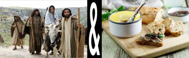 Another Christmas classic - The Nativity Story movie review paired with traditional Jewish recipes.
