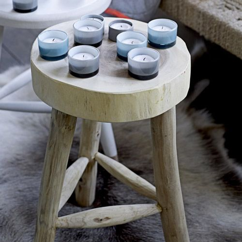 Tabouret En Bois Assise Ronde Bloomingville My Home Wishlist Deco Furnitures Home