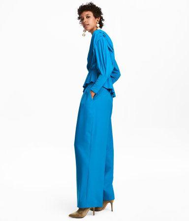 Wide-cut Pants | Bright blue | WOMEN | H&M US
