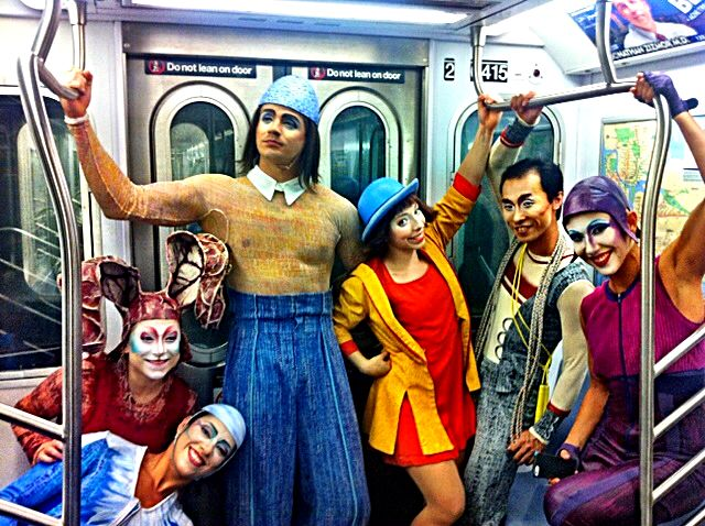 During our last visit to New York city, we had our Quidam's characters take a subway ride!
