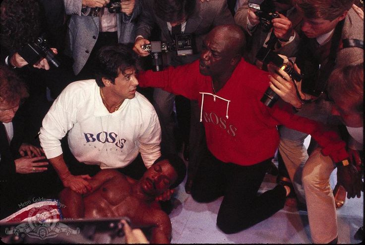 Still Of Sylvester Stallone Carl Weathers And Tony Burton In Rocky IV