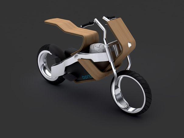 Pretty Little Battery Bike of Wood