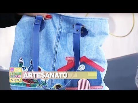 Artesanato - Bolsa de calça jeans - YouTube