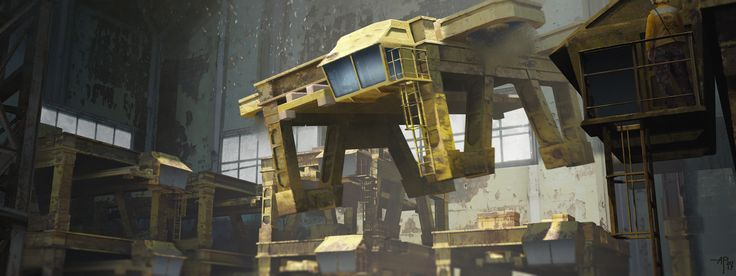 ArtStation - Cargo Port 2067, Alexandre Pinto