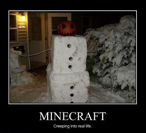 A Minecraft snowman?!? Genius, my son's going to love this! | Clenrock,com