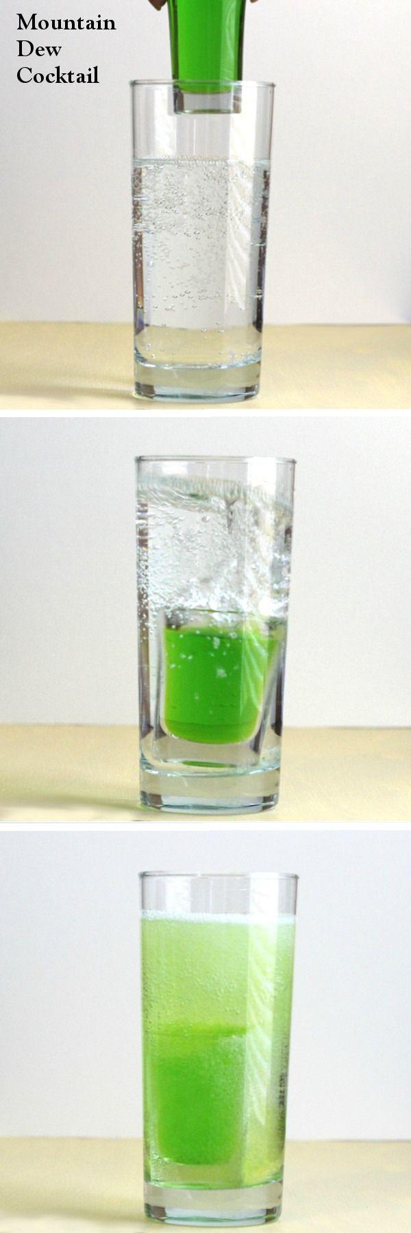Mountain Dew drink recipe: Midori, vodka, beer, 7-up