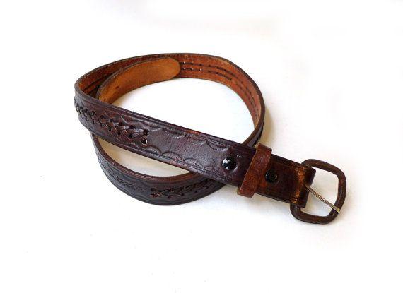 Vintage boho southwestern cowboy dark tan plaited by evaelena
