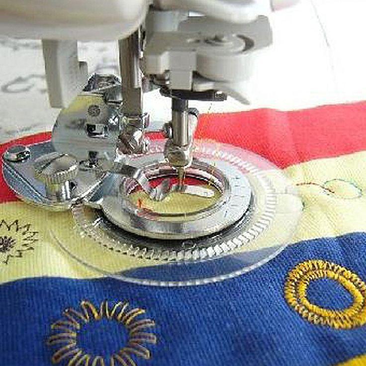 Foot Presser Needle Sewing Machine Stainless Steel Flower Stitch Foot Presser Stitcher Parts Round Embroidery, Industrial sewing machines, mini sewing machine, an old household sewing machine
