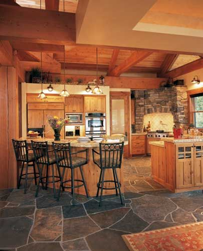 I love the floor of this kitchen!