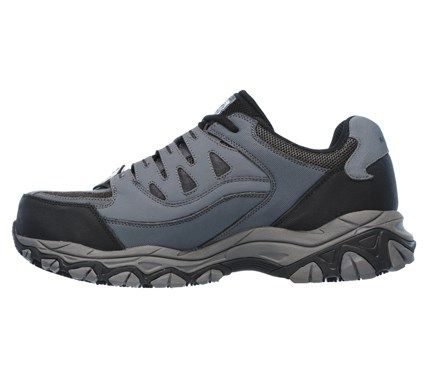 Skechers Work Men's Holdredge Memory Foam Steel Toe Work Shoes (Gray/Black) - 12.0 M