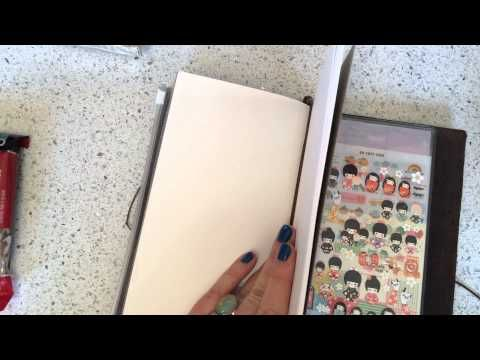 Midori Traveler's Notebook Introduction and How To (Tokyo Pen Shop) - YouTube