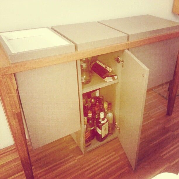 Universal storage. Our Tectonic as coctail cabinet, perfect for home or CEO office.