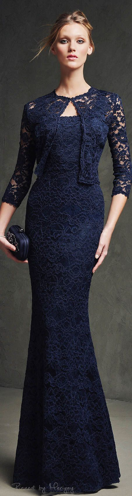 Blue lace Mother of the bride 2pc jacket and dress. Pretty lace 2 piece dress for the mother of the bride. We can make an evening gown like this for you. Custom designs & replicas available. https://www.dariuscordell.com/featured/custom-made-mother-of-the-bride-evening-dresses/