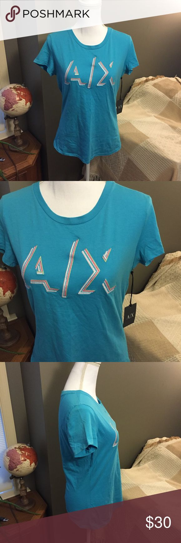 🆕 Armani Exchange Blue T-Shirt NWT Large ☀️ Brand new with tags! Thank you for looking! A/X Armani Exchange Tops Tees - Short Sleeve