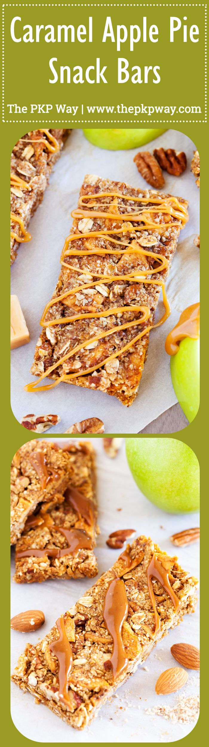 of crunchy pecans, chewy apples, and a caramel ribbon, these Caramel ...