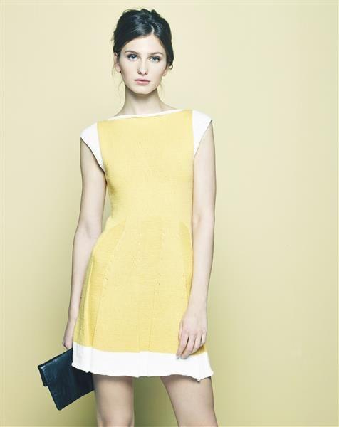 """Vol 4: Design 4 """"Caprina"""" kjole med vippeskjørt #LeilaHafzi #SandnesGarn"""